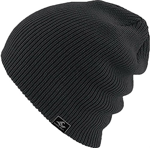 Joe's USA Koloa Surf CO. Original Soft & Cozy Beanies - Heather Black (Boys Beanie)