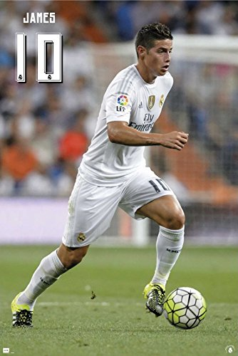 Real Madrid - Sports Poster / Print James Rodriguez #10 In Action By Stop
