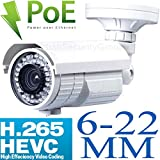 Cheap USG H.265 Compression 5MP 2592 x 1944 @ 30FPS IP Bullet Security Camera: 6-22mm Long Range 5MP HD Lens, PoE, 72x IR LEDs, 1/1.8″ Sony DSP, IP66 NEMA 4x Outdoor Rated, ONVIF 2.4