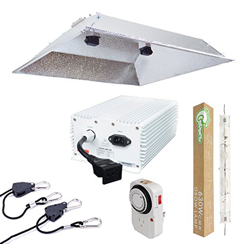 Hydro Crunch 630-Watt DE CMH Grow Light System with Double Ended XXL Open Hood Reflector