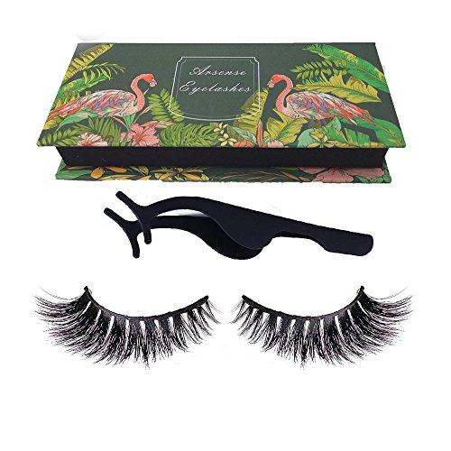Soft Long Cosmetic False Eyelashes (Black) - 9