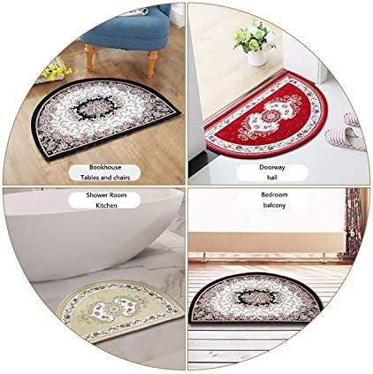 Summer Half Round Door mats Colorful Bunch Flip Flops Sandals Pattern Relax Holiday Sunbath Theme Groovy Graphic Bathroom Mat H 19.7 xD 31.5 Multicolor