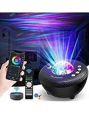 Led-sterrenhemel projector, Smart Star Projector Aurora Galaxy Light sterrenlicht nachtlampje lamp met timer/Bluetooth luidspreker, spraakbesturing van Alexa & Google voor feestjes kinderen volwassenen