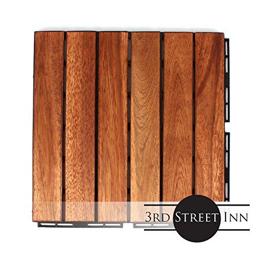 Acacia Wood Outdoor Flooring