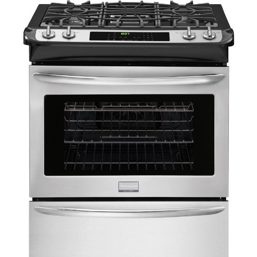 "Frigidaire Gallery Series FGGS3065PF 30"" Slide-In Gas Range with 4 Sealed Burners in Stainless Steel"