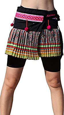 Full Funk Hand Made Thailand Hmong Hill Tribe Short Wrap Mini Skirt