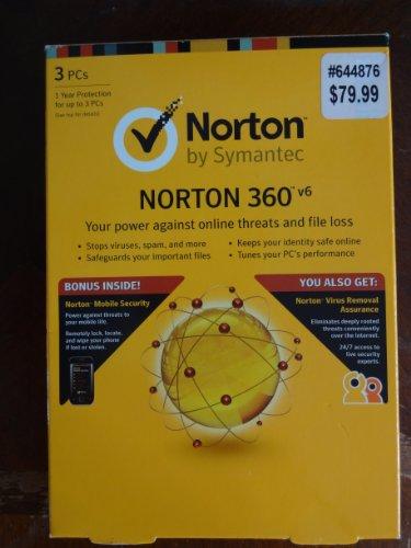 Symantec Norton 360  V6 For 3 Pcs
