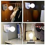 Stick Up Bulb Cordless Battery Operated Light Cabinet Closet Lamp Home Use 7v ;TM79F-32M UGBA162799