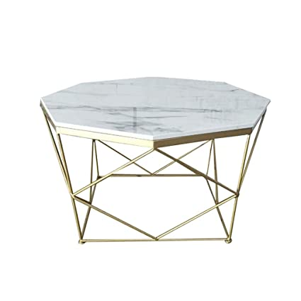 Amazon.com: Creative Coffee Table, White Marble Tabletop ...