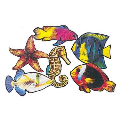 Pkgd Fish Cutouts Party Accessory (1 count) (6/Pkg) (6 Group Halloween Costumes)