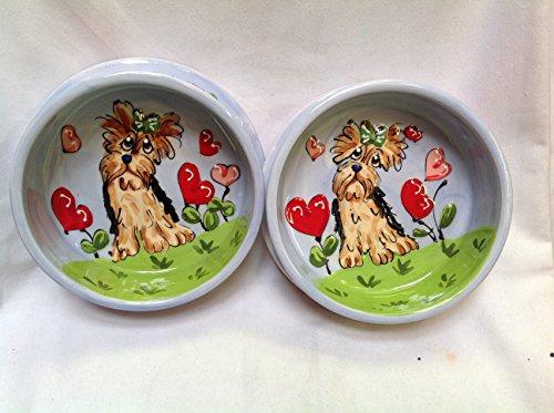 8 inch ceramic dog bowl set - 9