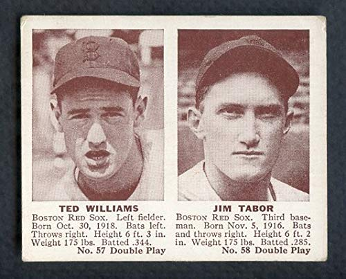 (1941 Double Play #57/58 Ted Williams Jim Tabor VG-EX 362246 Kit Young Cards)