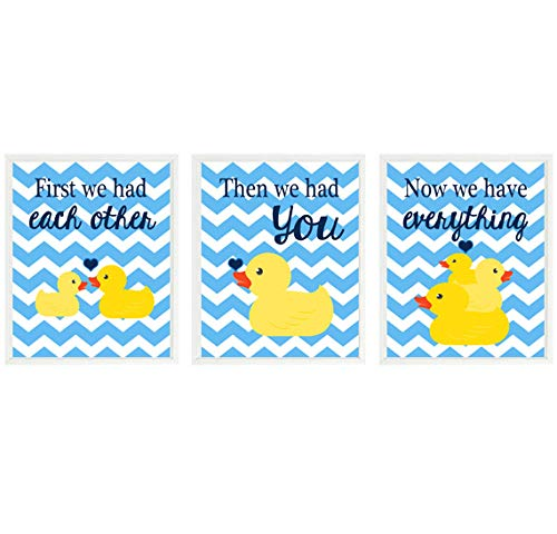 Amazon.com: Rubber Duck Nursery Art, First We Had Each Other, Yellow ...