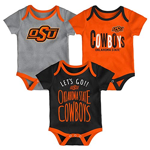 Outerstuff Oklahoma State University Infant Creeper Set Lil Tailgater 3 Pack (12 M)