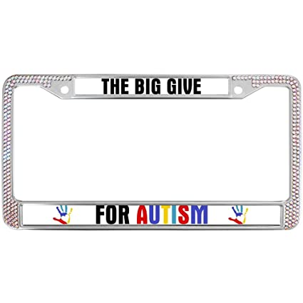 Amazon.com: The Big Give for Autism License Plate Frames,Autism ...
