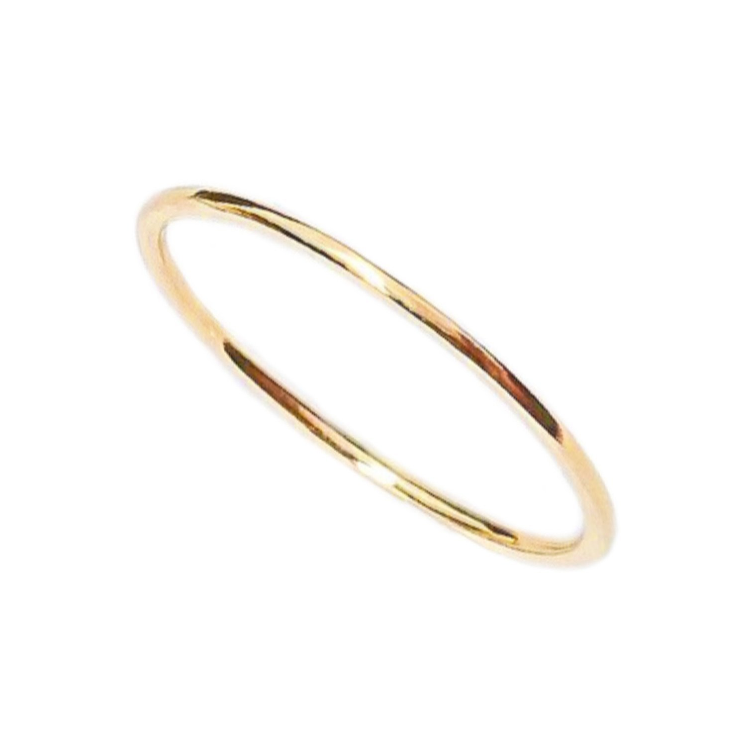 Very Thin 0.8mm Solid Yellow Gold Ring 18K Gift for precious one and your self