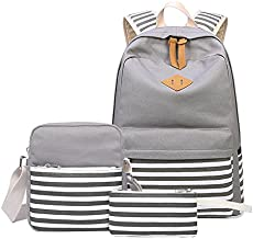 782b881063eb Abshoo Causal Canvas Stripe Backpack Cute…