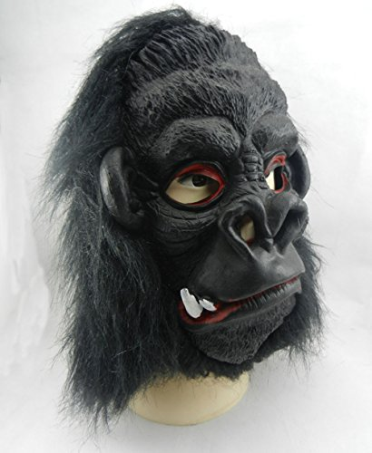 XY Fancy Halloween Funny Mask,Gorilla with Big Ears Mask Latex Costume Toys 2 teeth (Hockey Mask Halloween Costume)
