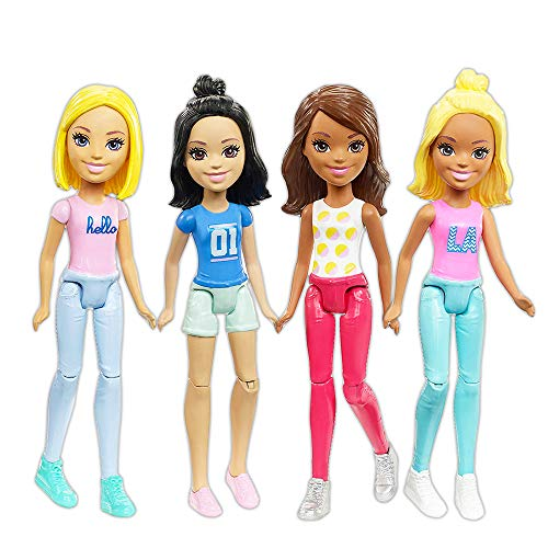 Barbie Doll Party Favors Set ~ Bundle of 4 Barbie Mini Dolls for Girls Birthday Party Supplies (Barbie Party Favors) (Mini Barbie)