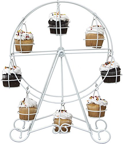 8 Count Ferris Wheel Cupcake Stand Holder Display by Cooking Upgrades (Circus Stand Holder Cupcake)