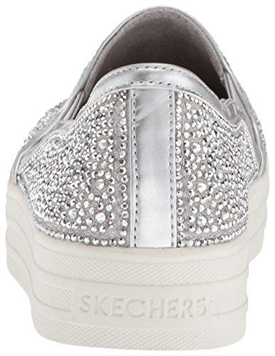 Mujer Silver Glitzy sin GAL Double Plateado Zapatillas Sil Cordones Skechers para Up xEpq8wOTvW