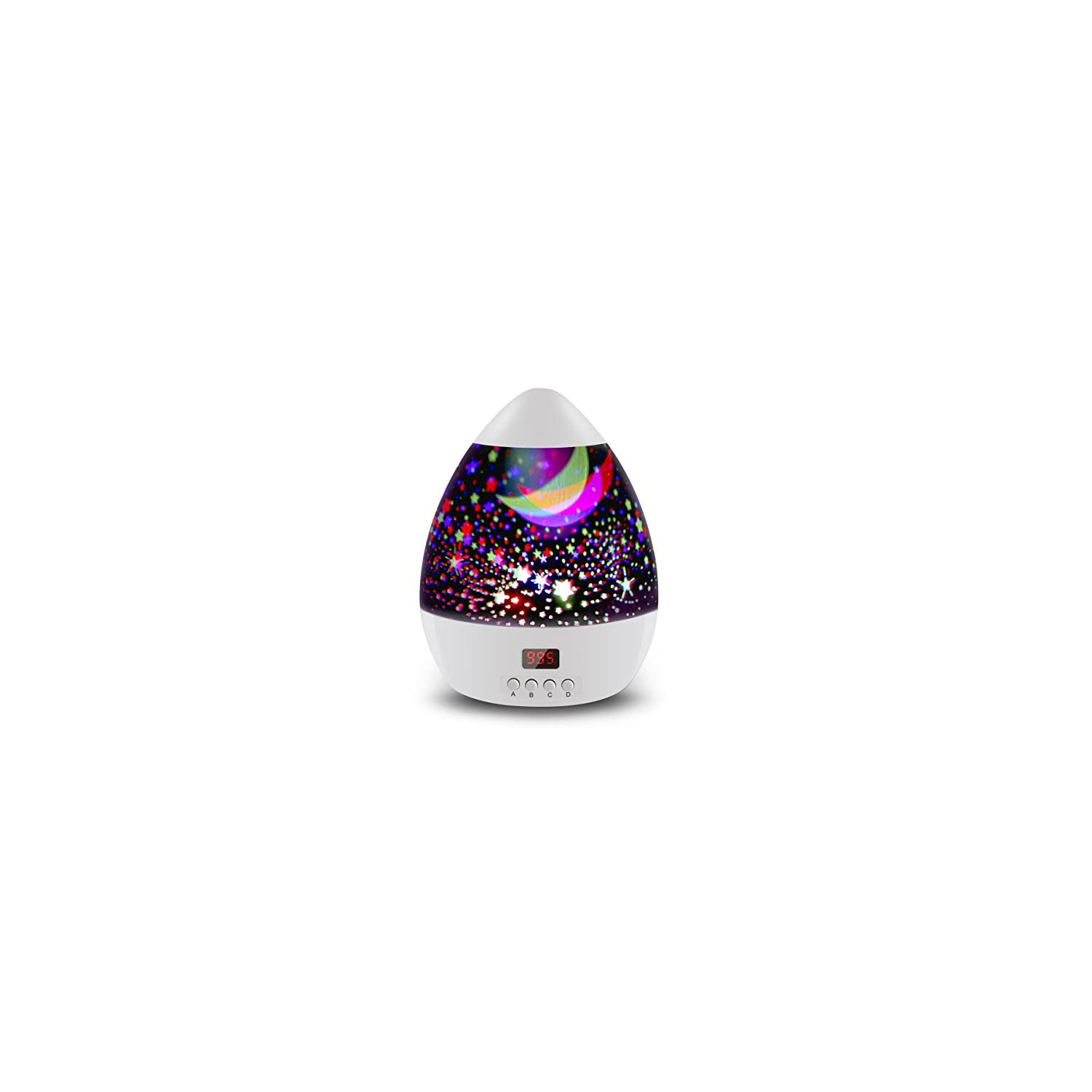 Star Sky Night Lamp, ANTEQI Star Projector with Timer,Rotating Night Light for Kids,Christmas Gift (White)
