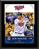"Joe Mauer Minnesota Twins Sublimated 10.5"" x 13"" Composite Plaque - Fanatics Authentic Certified - MLB Player Plaques and Collages"