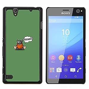 YiPhone /// Prima de resorte delgada de la cubierta del caso de Shell Armor - Cute Funny Problemas Vikingo - Sony Xperia C4