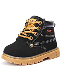 UBELLA Baby's Boy's Girl's Waterproof Outdoor Insulated Winter Snow Boots Warm Ankle Martin Boots