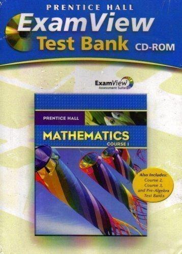 PRENTICE HALL MATH COURSE 1 EXAMVIEW TEST GENERATOR CD-ROM (Test Generator)