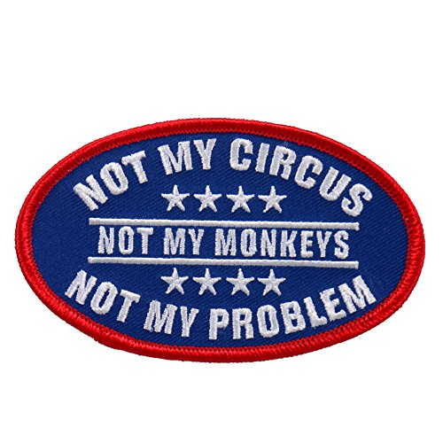 Hot Leathers Unisex-Adult Not My Circus Patch (Multicolor, 4