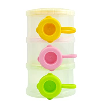 Pink ZHOUBA Baby Travel Infant Milk Powder Formula Dispenser Container Storage Feeding Box