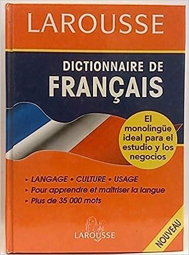 dictionnaire francais monolingue