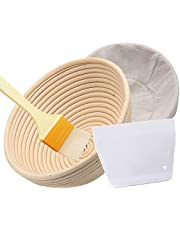 "Banneton Proofing Basket 10"", Kuty Round Banneton Brotform for Bread and Dough (1000g Capacity)"