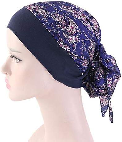 Kentop Durag Bonnet Turban de Femme Chimio Casquette Couvre-Chef Hijab Capuchon Musulman Islamique Inde Chapeau Bonnet de Sommeil pour la Perte de Cheveux la chimioth/érapie Cancer