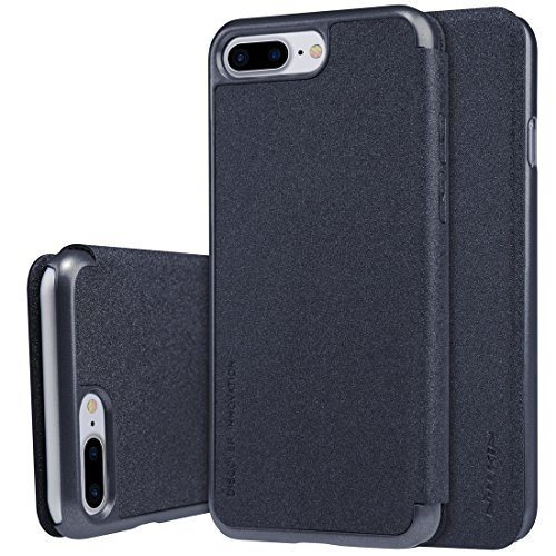 Protege tu iPhone, NILLKIN SPARKLE Series Para iPhone 7 Plus Frosted Texture Caja de cuero horizontal Flip Para el teléfono celular de Iphone. ( Color : Negro ) Negro