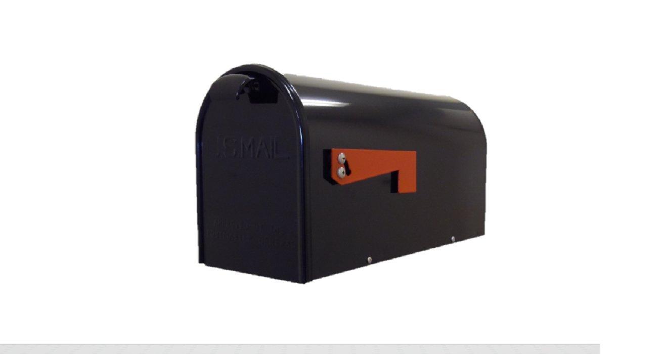 GDM NPT-B Premium Steel Newport Mailbox - USA Made - Black