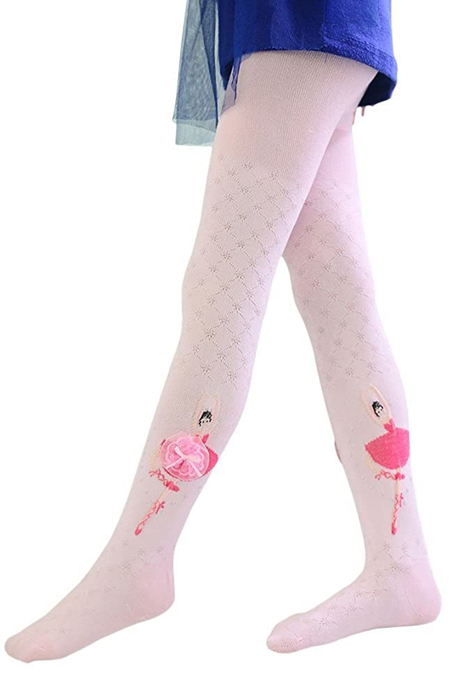 Girls Ballet Tights, QincLing Kids Cotton Footed Dance Tights Pantyhose Stockings CMS110601-001