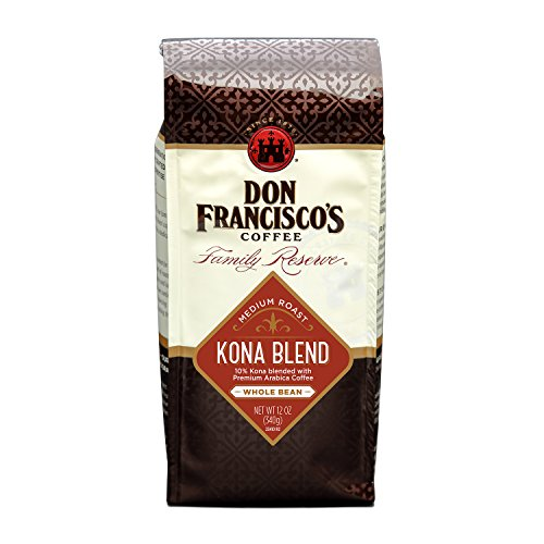 Don Francisco's Coffee, Kona Blend Whole Bean Medium Roast, 12-Ounce