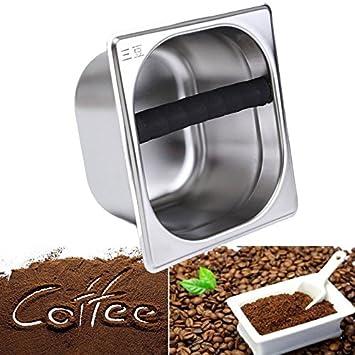 xiaolanwelc @ Knock para posos de café caja para máquinas de café accesorios acero inoxidable residuos residuos soporte organizador Home café herramientas: ...