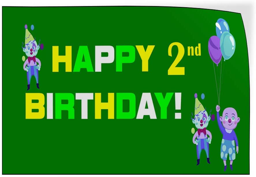 Custom Door Decals Vinyl Stickers Multiple Sizes Happy Age Birthday Green Holidays and Occasions Happy Birthday Outdoor Luggage /& Bumper Stickers for Cars Green 27X18Inches Set of 10