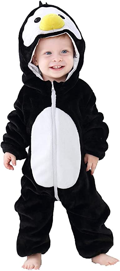 Toddler Baby Boy Girl Hooded Romper Jumpsuit Winter Warm Coat Outwear Clothes