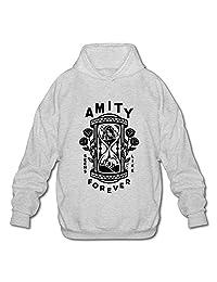 BOOMY THE AMITY AFFLICTION Never Along Man's Hooded Sweatshirt
