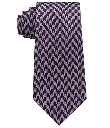 Sean John Men's Retro Houndstooth Silk Tie Purple Necktie
