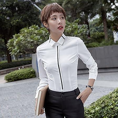 XXIN Camiseta Long-Sleeved Pro Hembra Mono y Camisas Blancas ...