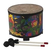 "Remo KD-5080-01 - Tambor de Tom para piso de percusión para niños - Selva tropical de tela, 10 """
