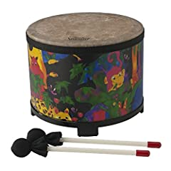 Kids don't have to work, so why not let them bang on the drum all day? This colorful, 10-inch kid's floor-tom is a great solution. Its compact size makes it just right for classroom drum circles, and it can be played with hands, the included ...
