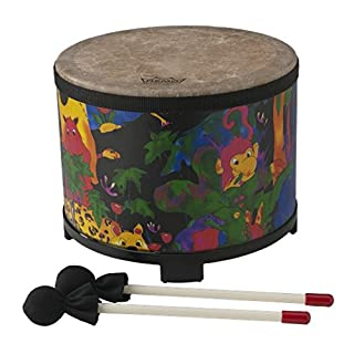 """Remo KD-5080-01 Kids Percussion Floor Tom Drum - Fabric Rain Forest, 10"""""""