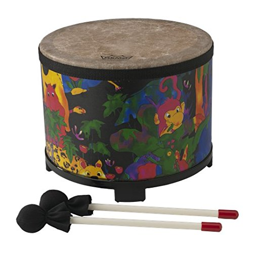 - Remo KD-5080-01 Kids Percussion Floor Tom Drum - Fabric Rain Forest, 10