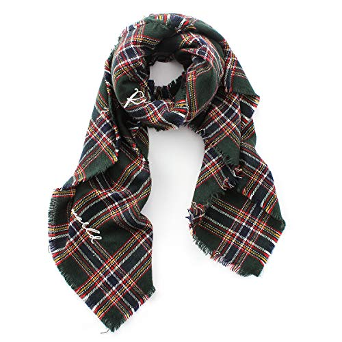 Lusm Christmas Plaid Scarf Winter Oversized Blanket Soft Lightweight Shawl Wraps